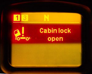 Cab locks are open
