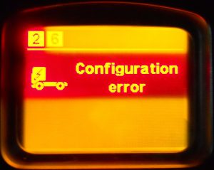 Error in car system configuration