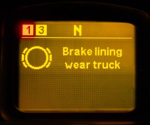 Excessive wear of brake pads