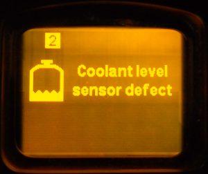 Fault coolant sensor