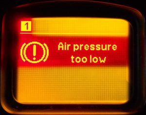 Low pressure in the pneumatic system