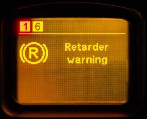 Malfunction of the transmission brake / intarder