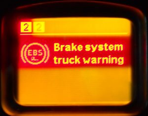 Serious malfunction of brake system EBS