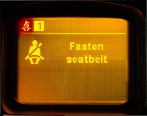 The seatbelt is not fastened